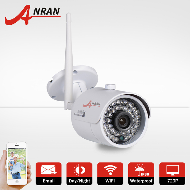 720P CCTV Wireless WIFI Video Network IP Camera HD Outdoor Onvif H.264 IR Night Vision Home Surveillance Video Security Camera
