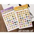 9 Шт./Много Прекрасный Emoji Усмешки Наклейки Оформлен Письма и Дневники Развивать Детей Воображение и Творческий