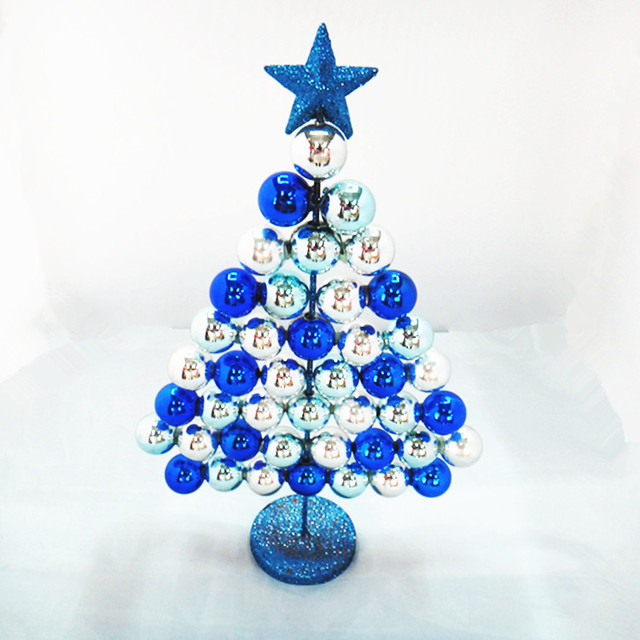 RS blue white Christmas tree Christmas decorations 37cm ball ball