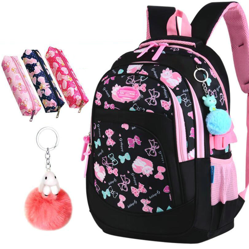 8d1d616cf460 2019 детская школьная сумка для девочек, детский Ранец, рюкзак для начальной  школы, ортопедический