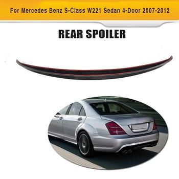 S Class Carbon fiber Rear Trunk Spoiler Wing for Mercedes Benz W221 Sedan 4 Door Only 2007-2012 S400 S450 S500 S550 S600 S63 AMG