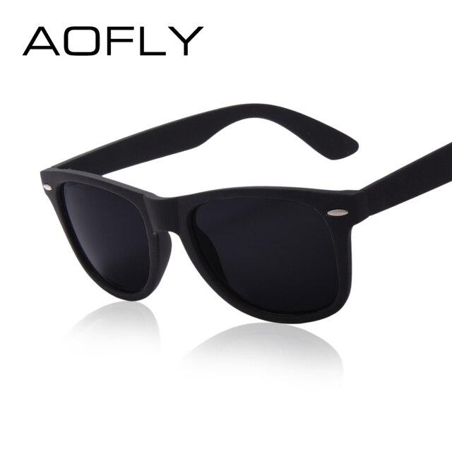 AOFLY Fashion Sunglasses Men Polarized Sunglasses Men Driving Mirrors Coating Points Black Frame Eyewear Male Sun Glasses UV400 1