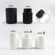 цена на 30 x 100ml 150ml 200ml Plastic White Black Medical Pill Bottles for Medicine Capsules Packaging Container with Tamper Seal