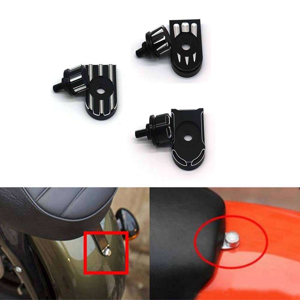 Motorcycle Rear For Fender Seat Bolt Tab Screw Mount Knob Cover Kit Aluminum For Harley Sportster Dyna Seat Bolt Tab Screw