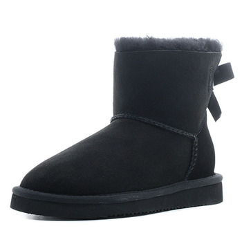 Snow Boots For Women Woman Ankle  Shoes Winter Warm Ladies Shoe Wool Platform Slip On 2019 New Design Free Shipping