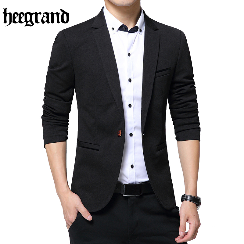 Hee Grand 2017 New Fashion Style Luxury Business Casual Suit Men Formal Banquet Dress Beautiful