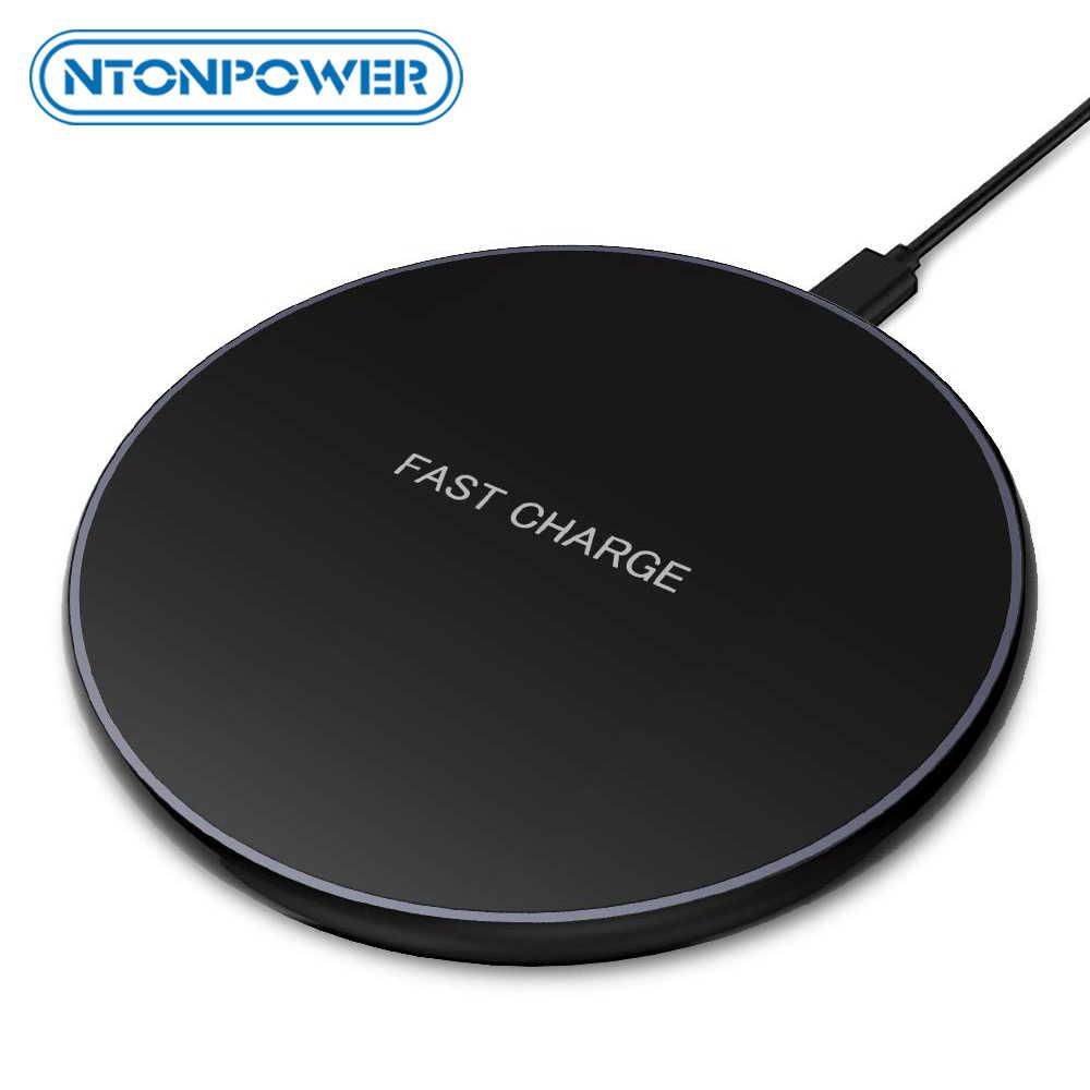NTONPOWER 5 واط/7.5 واط/10 واط تشى سريع لاسلكي كابل شحن لهواتف سامسونج شاومي هواوي سريع لوحة شحن لاسلكي آيفون X 8 التوصيل QC3.0
