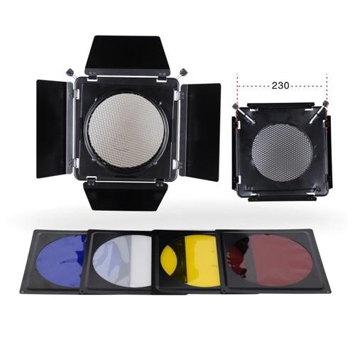NiceFoto SN-12 Studio Flash Accessories Elinchrom Barn Door Filter Kits for Elinchrom Standard Reflector 230mm Standard Hood аксессуар elinchrom 16см 26143