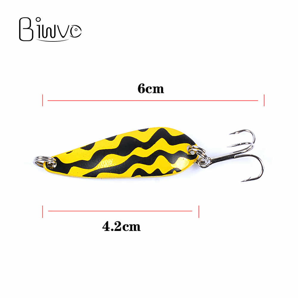BIWVO 5,5g 4cm cuchara jig señuelo metal calamar invierno señuelo duro para pesca oropel hielo mar señuelo de jigging shad superficie peces pequeños