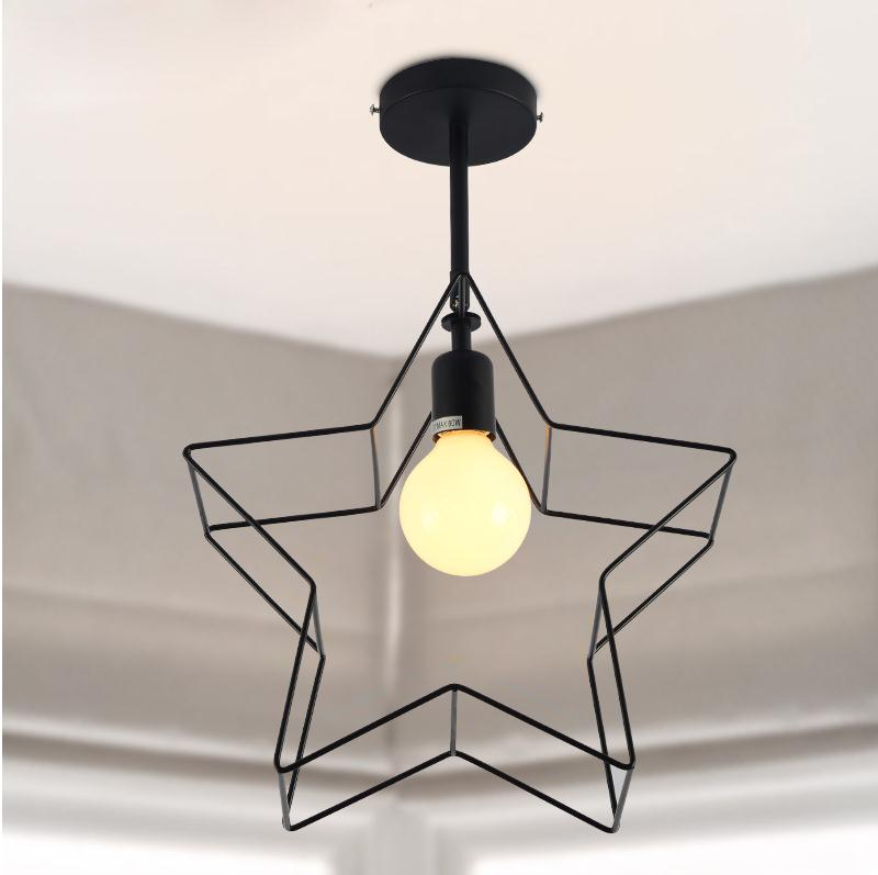New Modern pendant light balcony bedroom study and creative personality and creative iron Pendant Lights FG444 nordic modern compact pendant lights heads creative personality bedroom lamp american study balcony fabric pendant lamp za fg932
