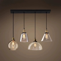 Retro Glazen Hanglampen LED Keuken Verlichting LED Lamp Opknoping Lamp Plafond Lampen Woonkamer Verlichtingsarmaturen