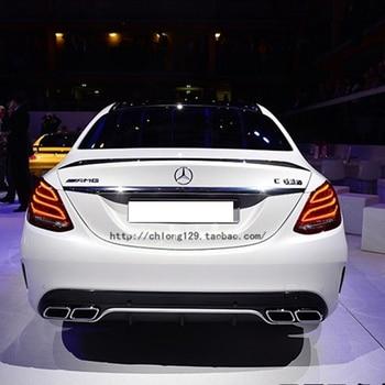C63 Style Replacement Mercedes W205 Carbon Fiber Spoiler For 2015 2016 2017 Benz C Class 4 door Trunk Lid carbon fiber mercedes benz 2011 2013 w204 c class coupe rear wing trunk spoiler