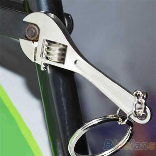 Moda Mini Wrench Ferramenta Spanner Chave Cadeias Anel Metal Keychain Trinket Chaveiro Jóias para As Mulheres Homens Presentes de Natal Bluelans