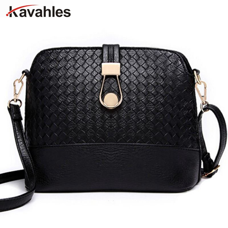 bags female over the shoulder women messenger bags leather handbags knitting shell small bag women shoulder crossbody bags  AA-7