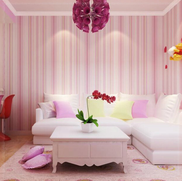 home decor Boys wallpaper blue/pink non woven wall paper kids ...