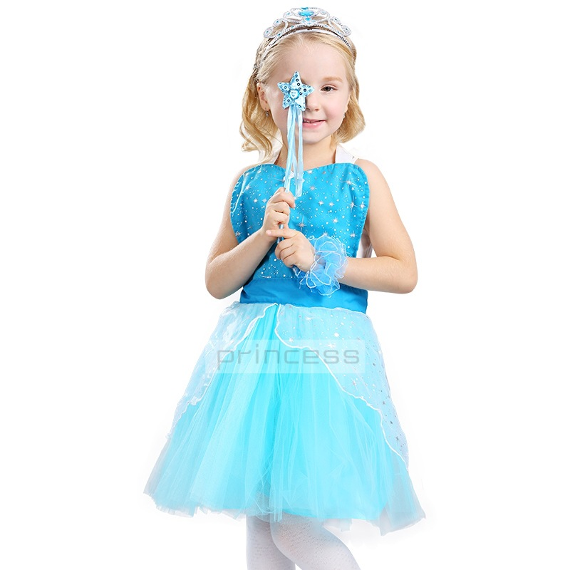 HI BLOOM Children's Princess Girl Dress Kids Anna Elsa Costumes Dresses for Girls The Snow Queen Christmas Toddler Girls Clothes 13pcs set snow queen elsa anna princess dress girl toys play house dress up kids toys action figures for new year gift s50