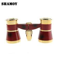 SHAMOY 3*50 Ladies Theatre Binocular Telescope with LED Light Telescopes Metal Fixed Focus Handheld Binoculars B325