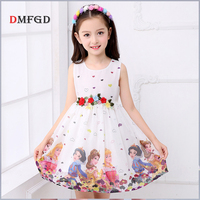 2018 Summer Children S Dress Clothing Ins Flower Girls Chiffon Dresses Fashion Snow White Costume Child