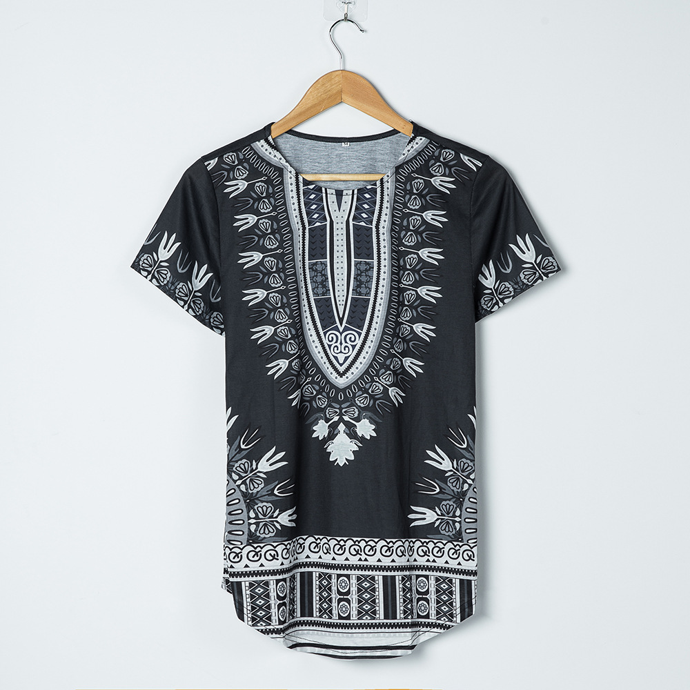 African Riche African Clothing Time-limited Hot Sale Traditional New Arrival Polyester Printing Men Clothes Dashiki Plus sizes (4)