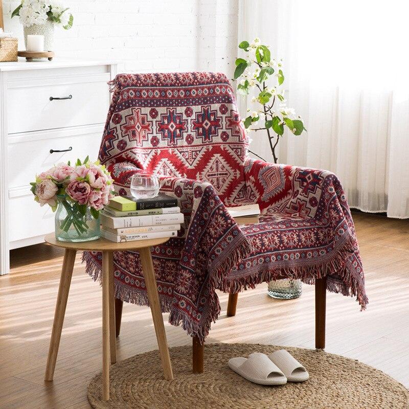 ESSIE HOME 소파 담요 Kilim 카펫 소파 거실 용 침실 깔개 원사 염색 된 소파 담요 터키 에스닉 패턴 침대 커버