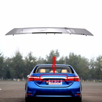Chrome Rear Trunk Door Handle Cover Tail Gate Trim Molding 76801 02E70 For Toyota Corolla 2014