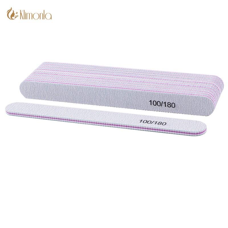 5pcs/lot Nail File Sandpaper Nail Polish Buffer Blocks For UV Gel 100/180 Manicure Pedicure Finger Care Nail Art Beauty Tools
