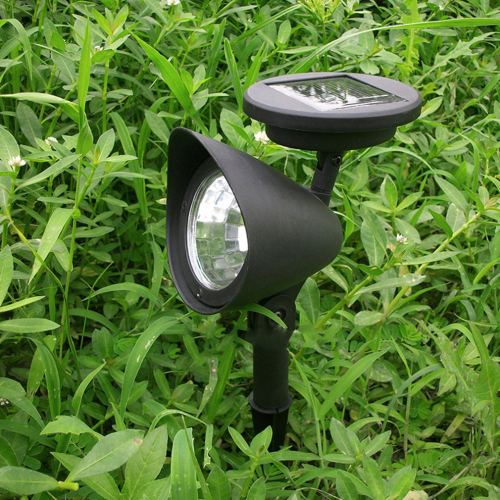 ICOCO 3 LED IP44 Solar Powered Spotlight Outdoor Garden Landscape Lawn Yard Path Spot Light Decor Auto On Light Lamp brd technology solar powered 4 led spotlight outdoor waterproof garden 1 5w led bright white light lamp for outdoor landscape garden driveway pathway yard lawn house tree etc solar energy exterior lighting auto on at night and auto off by day