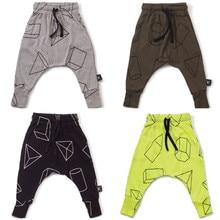 Garçons Pantalon Enfants Harem Pantalon Imprimé Géométrique Bébé Filles Pantalons Enfants Enfant Coton Vêtements Pantalon pour enfants