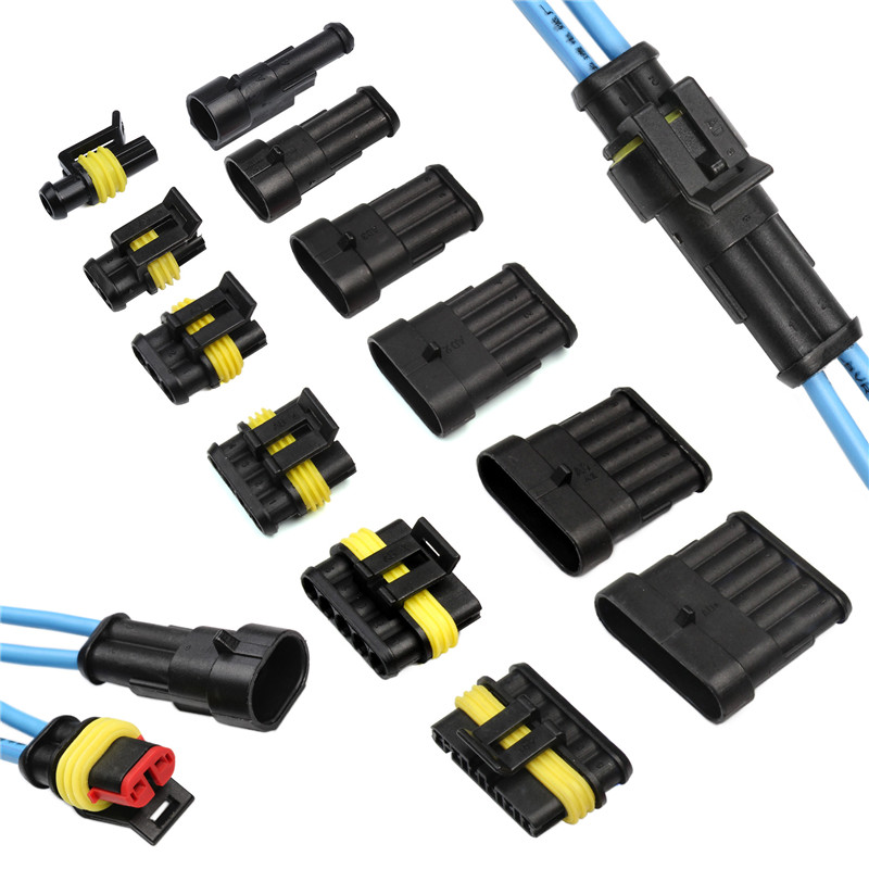 5 Sets 2 Pin Car Waterproof Wire Connector HID Plug 1.5mm Terminals 18 AWG //KT
