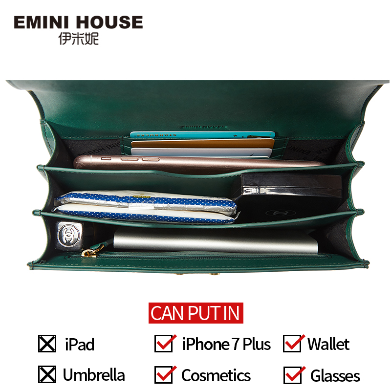 EMINI HOUSE Padlock Crossbody Bags For Women Messenger Bags Split Leather Luxury Handbags Women Bags Designer Purse And Handbags