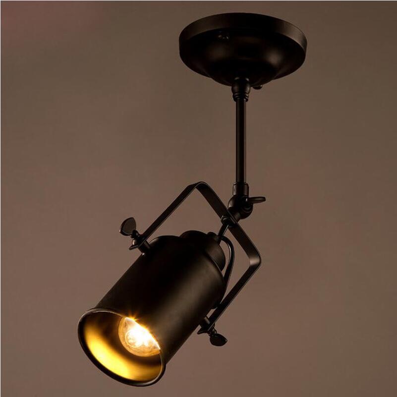 pendant lights Retro loft industrial iron hanging light bedroom restaurant pendant lamps Pendant Lights     - title=