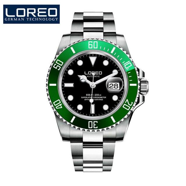 Hommes mécanique montre automatique Date mode luxe marque saphir plongeur étanche horloge mâle lumineux montres - 4