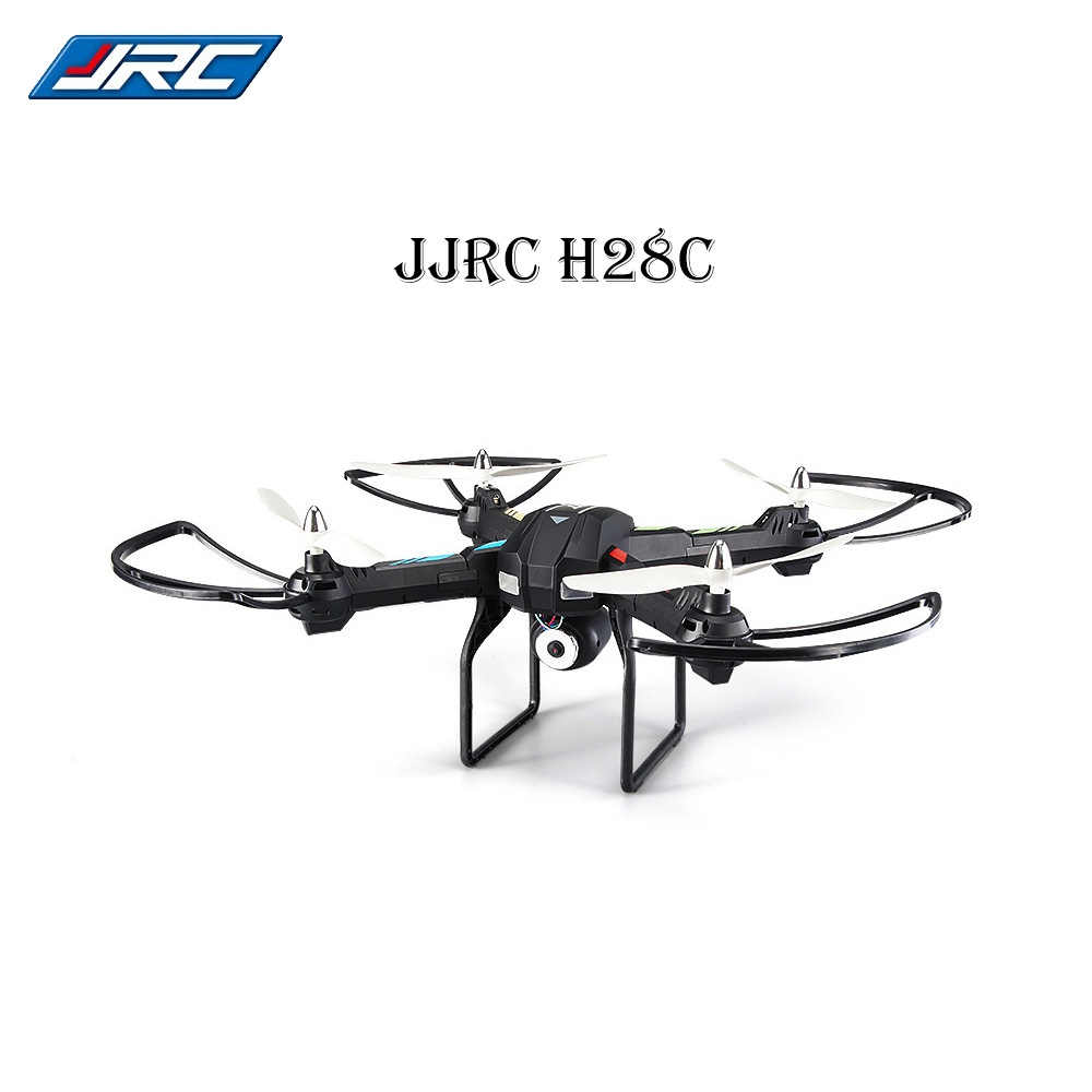 JJRC 2017 New H28C WiFi HD 2MP CAM Real-time Transmission 0.3MP CAM 2.4G 4 Channel 6 Axis Gyro RC Quadcopter/Black Helicopter jjrc h29g rc drones 2 4ghz 4 channel 6 axis gyro rc quadcopter 5 8g real time transmission 2 0mp cam rc quadcopter