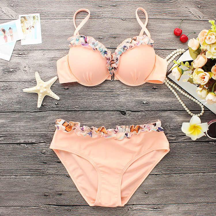 2017 Sexy Bikini Nữ Áo Tắm Đồ Bơi Halter Top Hoa Brazillian Bikini Set Tắm Phù Hợp Với Mùa Hè Biển Mang Biquini