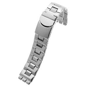 Image 5 - Laopijiang bracelet swatch 19mm, en acier inoxydable, SWQ, YCS570G, étanche avec une bouche convexe et convexe, de couleur noir argent