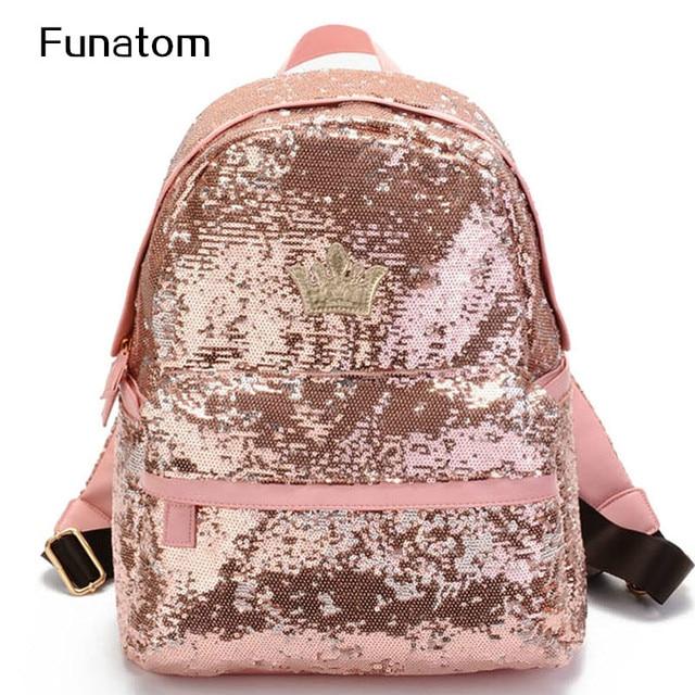 2017 Glitter Backpack Women Sequin Backpacks For Teenage Girls Rucksack New  Fashion Brand Gold Black School Bag mochilas XA582H