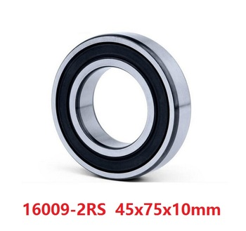 10pcs/lot bearing 16009RS 16009-2RS 16009 RS 2RS rubber sealed 45x75x10 mm Deep Groove Ball bearing 45*75*10mm