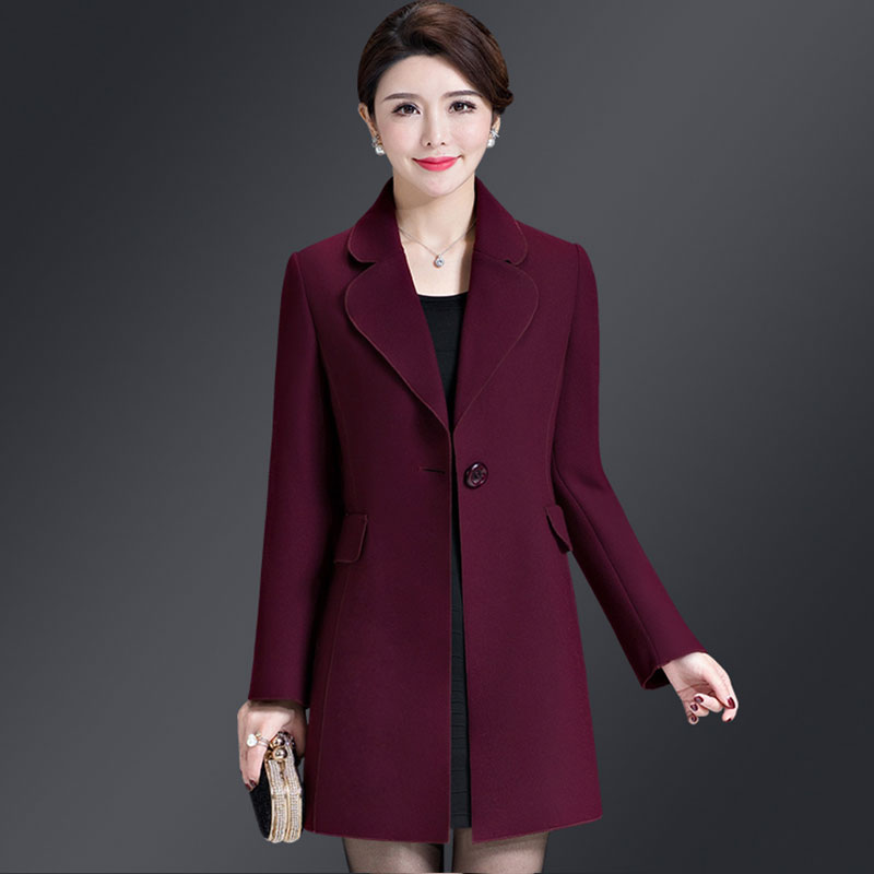 d6138cc0ef1 Aliexpress.com : Buy Double sided Plus size Cashmere Winter Women Wool  Jacket 2018 New Thick Middle aged Woolen Long Ladies Coat casaco feminino  Z589 ...
