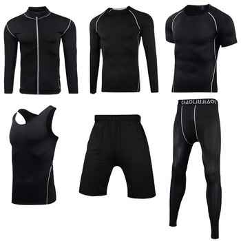 Men Sportswear Compression Sport Suits Quick Dry Running Sets Clothes Sports Joggers Training Gym Fitness Tracksuits Running Set 26