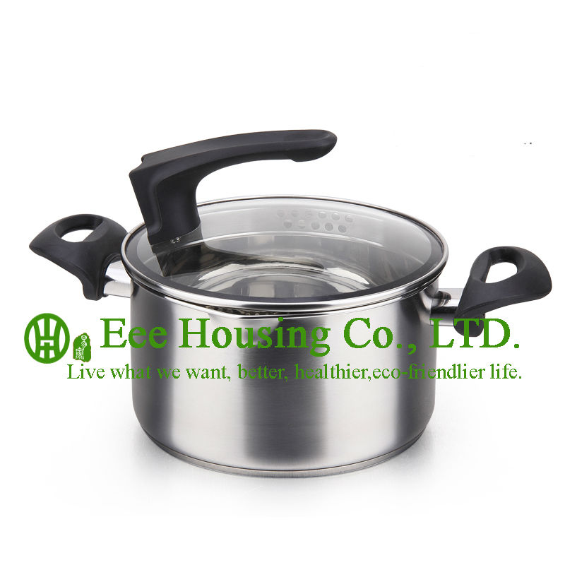 Stainless Steel Cookware Kitchenware Free Shipping Factory Price Cooking Cookware,cooking Pot,steamer Pot,soup,mini Pot Kitchen