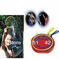 Free shipping children game Magical Blowing bubbles and a two-piece big bubble ring toy