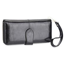 Elegant Hasp Sling Design Multicard Bit Wrist Wallet Clutch Card Holder Phone Pocket for Ladies