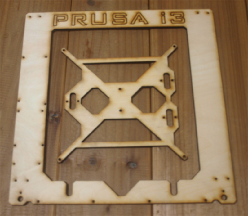 Prusa I3 Hephestos 3D printer 6mm wooden laser cut frame kit  Single Sheet Framebase 3D Printer DIY 6 mm
