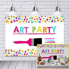 Art Painting Theme Birthday Party Decoration Backdrop Paint Splatter Photo Background Graffiti Wall Brush Photography Backdrops