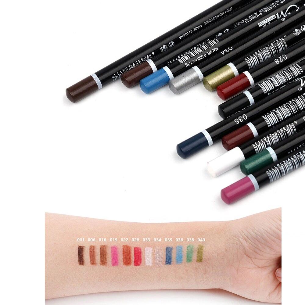 MENOW 12 Colors Eye Make Up Eyeliner Pencil Waterproof Eyebrow Beauty Pen Liner Lip sticks Cosmetics Eyes Makeup P08005