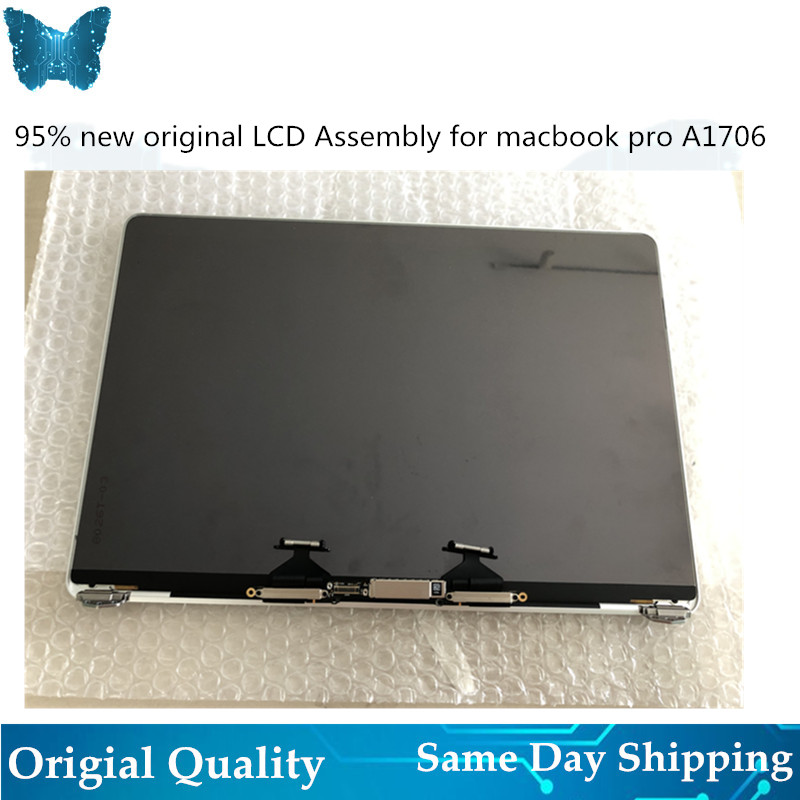 Original Silver Gray A1706 A1708 LCD Screen Display Assembly for Macbook Retina 13 A1706 A1708 Full LCD 2016 2017 Year