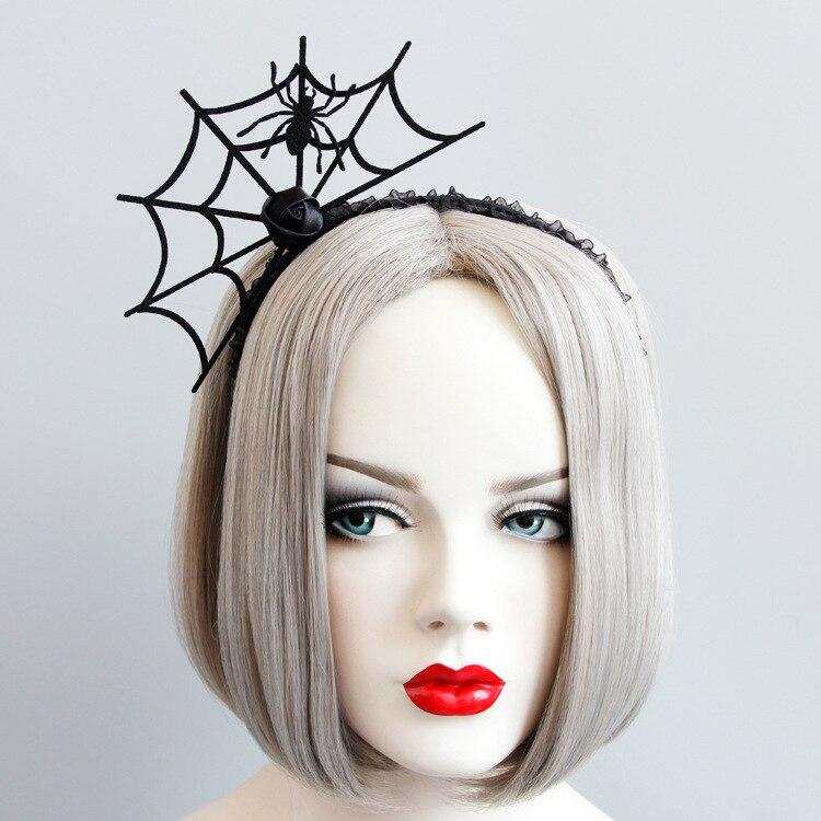 Gothic Hair Hoop Spider Webs Stirnband Weihnachten Carnival Night Festival