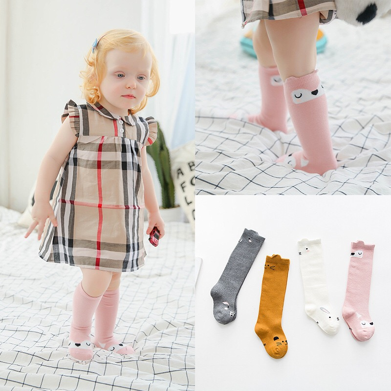 Kids-Long-Socks-Knee-High-toddler-Girls-Boot-Sock-Leg-Warmer-Cute-Cat-Black-baby-Cotton-Sock-for-baby-girls-sloth-socks-5