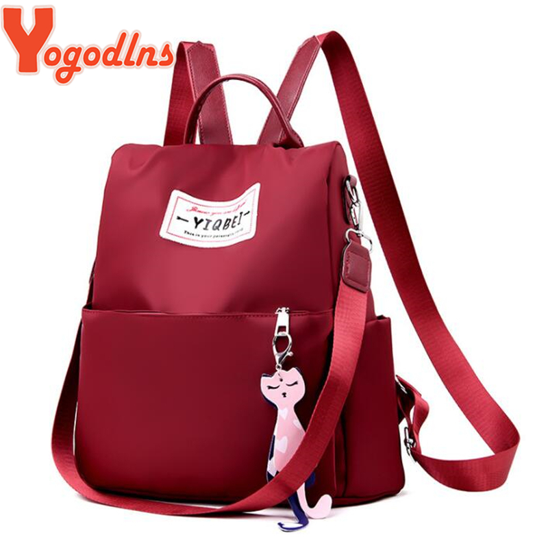 Embroidered Sling Back Pack Tote School Books Children Teens Travel Supplies