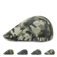 Spring Autumn Summer Men Woman Camouflage Beret Hat Military Style Caps Fashion Berets Peak Hat